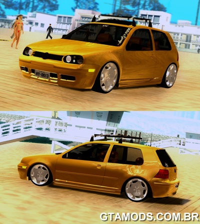 Volkswagen Golf mk4 Yellow Stanced [ImVehFT]